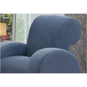 Poltrona Decorativa com Pés em Alumínio Hipo Azul Jeans 074 - Ibiza
