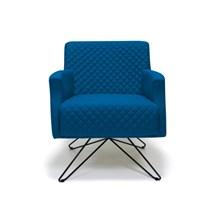 Poltrona Decorativa Diva Base Orby Fixa B170 Azul - Domi