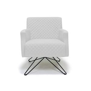 Poltrona Decorativa Diva Base Orby Fixa C12 Branco - Domi