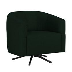Poltrona Decorativa Giratória com Balanço Bia Suede D05 Verde Musgo -