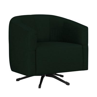 Poltrona Decorativa Giratória com Balanço Bia Suede D05 Verde Musgo - Mpozenato