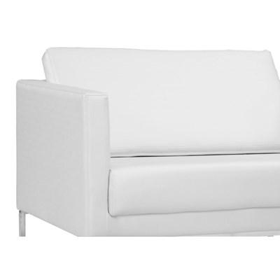 Poltrona Decorativa Maia 106cm C12 Corino Branco - Domi