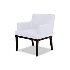 Poltrona Decorativa para Sala de Estar e Recepção Vitória W01 Corino Branco - Mpozenato