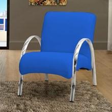 Poltrona Decorativa Polly 1 Lugar Corino Azul - Matrix