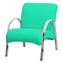 Poltrona Decorativa Polly 1 Lugar Corino Verde - Matrix