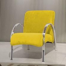 Poltrona Decorativa Polly 1 Lugar Suede Amarelo - Matrix
