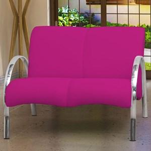 Poltrona Decorativa Polly 2 Lugares Corino Rosa - Matrix