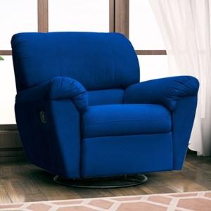 Poltrona do Papai Reclinável Retrátil Taty Suede Azul Marinho - Mpozenato