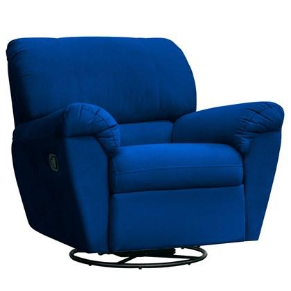 Poltrona do Papai Reclinável Retrátil Taty Suede D05 Azul Marinho - Mpozenato
