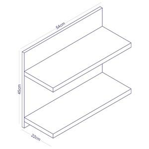 Prateleira de Parede Componível Dupla PR 002 Branco - Completa Móveis