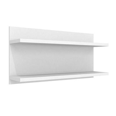Prateleira de Parede Componível Dupla PR 004 Branco - Completa Móveis