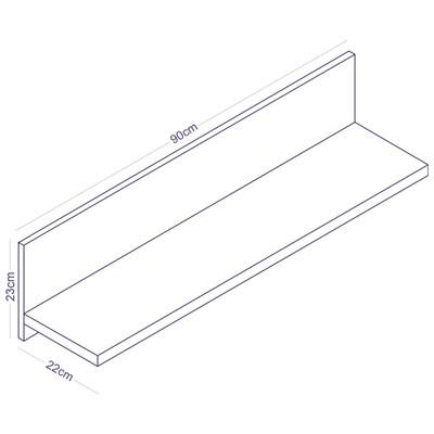 Prateleira de Parede Componível PR 003 Branco - Completa Móveis