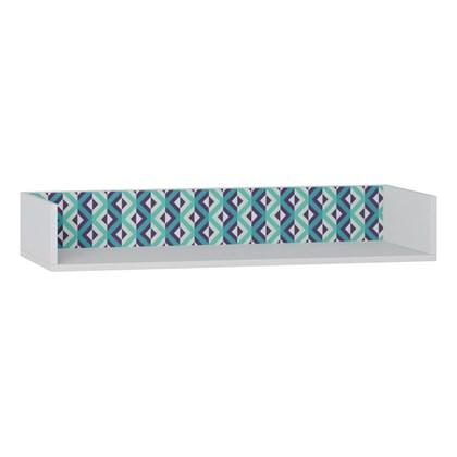 Prateleira de Parede Decorativa Retrô 1004 Branco/Azul - BE Mobiliário