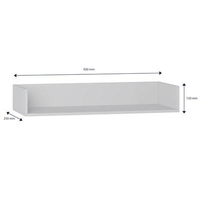 Prateleira de Parede Decorativa Retrô 1004 Branco - BE Mobiliário