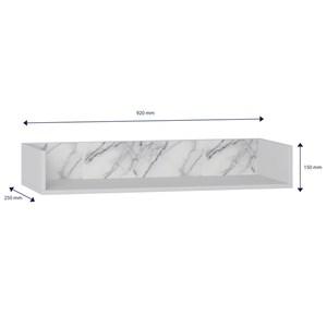 Prateleira de Parede Decorativa Retrô 1004 Branco/Carrara - BE Mobiliário