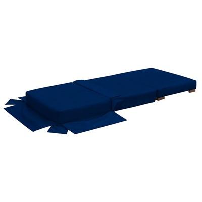 Puff Cama Solteiro Lucia Suede D05 Azul Marinho - Mpozenato