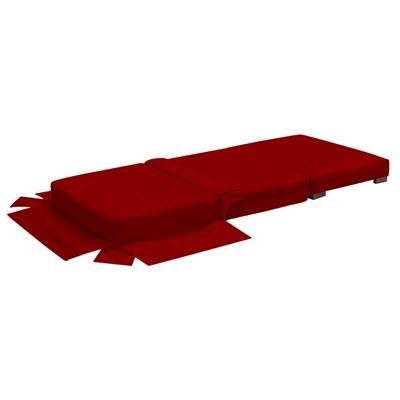 Puff Cama Solteiro Lúcia Suede D05 Vermelho - Mpozenato