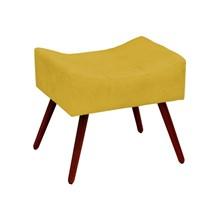 Puff Decorativo Alice Pés Palito Amarelo - Condor Decor