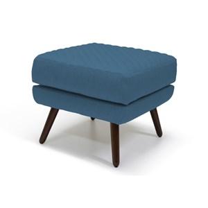 Puff Decorativo Marrie Pés Palito Tressê B170 Azul - Domi
