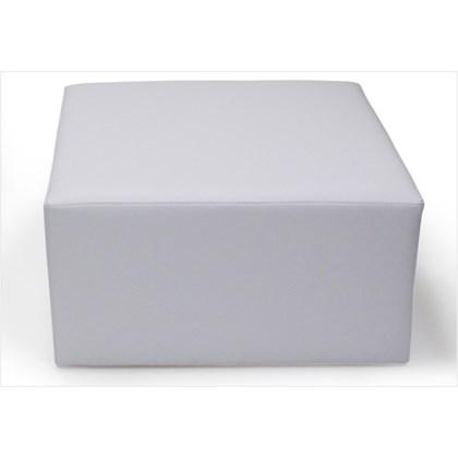 Puff Decorativo Tablet Corino Branco C-12 - Domi