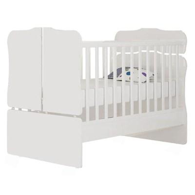 Quarto de Bebê Berço Amore 771 Certificado pelo Inmetro Cômoda e Guarda Roupa Lívia Branco - Phoenix