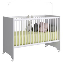 Quarto de Bebê Berço BY201, Guarda Roupa BB820 e Cômoda BB800 Branco - Completa Móveis