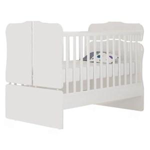 Quarto de Bebê Berço Sonho Encantado Cômoda e Guarda Roupa Lívia Branco - Phoenix