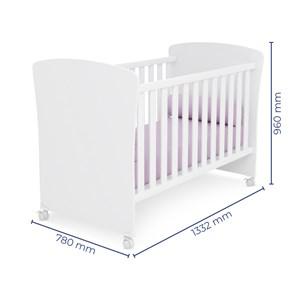 Quarto de Bebê Cômoda Doce Sonho e Berço 2484 Branco - Qmovi