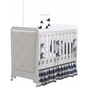 Quarto de Bebê Completo Carícia 4 Portas e Berço Botonê Branco - Móveis Estrela