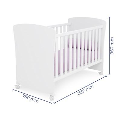 Quarto de Bebê Completo Certificado pelo Inmetro Doce Sonho e Berço 2484 Branco - Qmovi