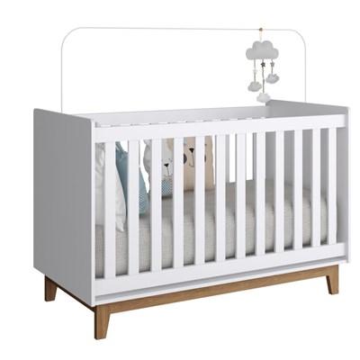 Quarto de Bebê Completo Retrô 2 Portas 6 Gavetas Branco/Nude - Completa Móveis