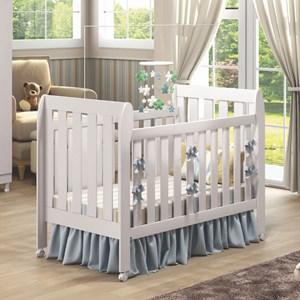 Quarto de Bebê Guarda Roupa Ludimila e Berço Lollipop com Colchão Branco - Phoenix