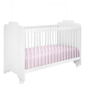 Quarto de Bebê Guarda Roupa Vitória e Berço Ternura Branco - PN Baby
