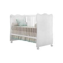 Quarto Infantil com Guarda Roupa 04 Portas Letícia e Berço Doce Sonho Branco - Phoenix Baby