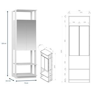 Quarto Modulado Closet Clothes 6 Módulos Branco - BE Mobiliário