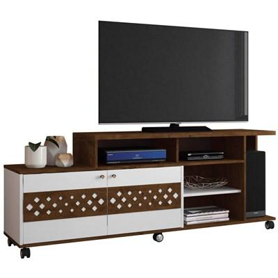 Rack Bancada 2 Portas Para TV até 47 Pol. Inovatta Canyon/Branco - HB Móveis