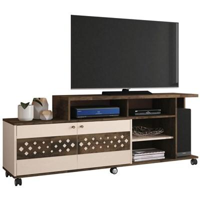Rack Bancada 2 Portas Para TV até 47 Pol. Inovatta Deck/Off White - HB Móveis