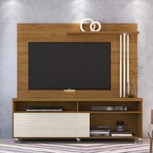 Rack Bancada e Painel Para TV até 65 Pol. Frizz Naturale/Off White - Madetec