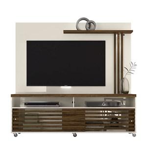 Rack Bancada e Painel Para TV até 65 Pol. Frizz Off White/Savana - Madetec