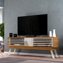 Rack Bancada Frizz para TV de até 75 Polegadas Naturale/Off White - Madetec