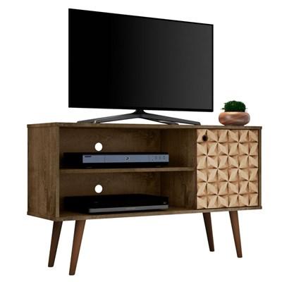 Rack Bancada Para TV até 42 Pol. Jade Madeira Rústica/Madeira 3D - Bechara