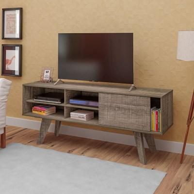 Rack Bancada para TV até 47 Pol. Vip Flex Canela/Off White - Artely