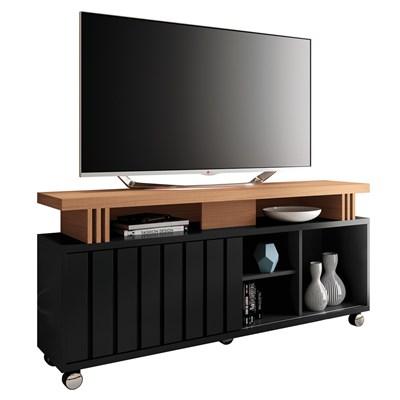Rack Bancada Para TV Até 50 Pol. 1.3 Briz H01 Preto/Nature - Mpozenato