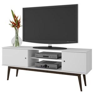 Rack Bancada para TV até 50 Pol. BPI11 2 Portas Branco/Carvalho - BRV