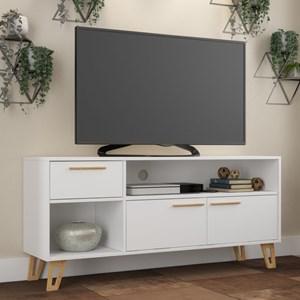 Rack Bancada para TV até 50 Pol. BR378 2 Portas Branco/Pinus - BRV