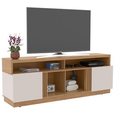 Rack Bancada para TV até 65 Polegadas 180cm Itapuã Natura Real/Off White - Colibri