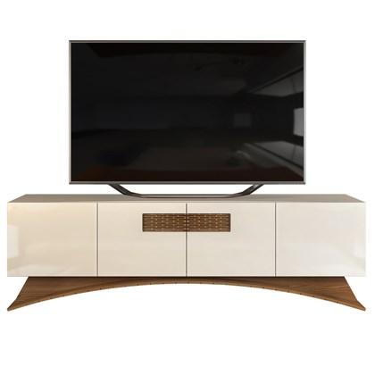 Rack Bancada para TV até 70 Polegadas 4 Portas Austral D04 Creme/Caiena - Mpozenato