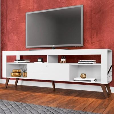 Rack para TV até 55 Polegadas Quebec RA1800 Branco - Art In Móveis