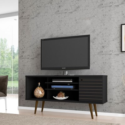 Rack Para TV até 60 Pol. 135 cm Safira Preto - Bechara