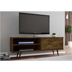 Rack Para TV até 60 Pol. 160 cm Onix Madeira Rústica - Bechara